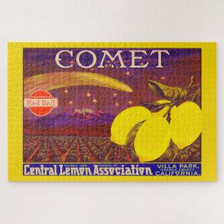 Puzzle Etiqueta del cajón del limón de la marca del