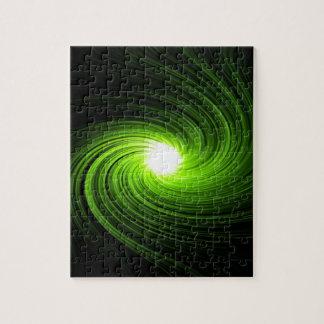 Puzzle Extracto verde del remolino