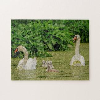 Puzzle Familia del cisne