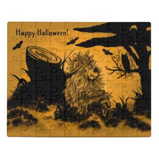 Puzzle Feliz Halloween de Fidel el pequeño Goblin del