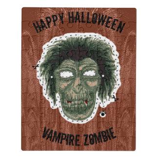 Puzzle Feliz Halloween - zombi del vampiro de la máscara