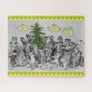 Puzzle Fiesta de Navidad de los gatos de Louis Wain del