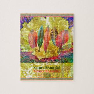 Puzzle Flor de Goldern y naturaleza de las hojas hermosa