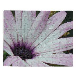 Puzzle Flor púrpura delicada de la margarita con las