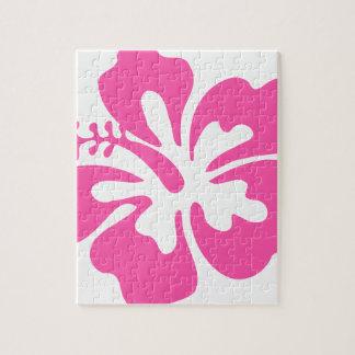 Puzzle Flor rosada del hibisco