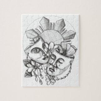 Puzzle Flor S filipino de Sampaguita del hibisco de la