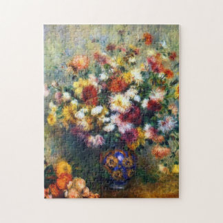 Puzzle Florero de Renoir de bella arte de los crisantemos