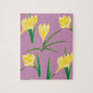 Puzzle Flores amarillas del azafrán