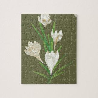 Puzzle Flores blancas 2 del azafrán