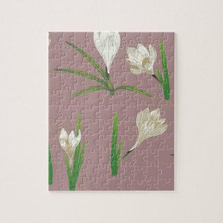 Puzzle Flores blancas del azafrán