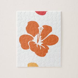 Puzzle Flores coloridas del hibisco