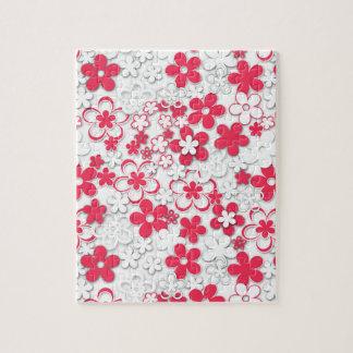 Puzzle Flores del Libro Blanco rojo y