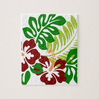 Puzzle Flores tropicales del hibisco