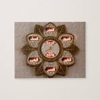 Puzzle Florezca el reloj formado, mezquita de jeque Zayed