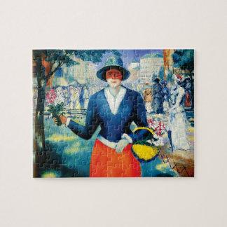 Puzzle Florista de Kazimir Malevich