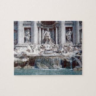Puzzle Foto de Roma de la fuente del Trevi difícil
