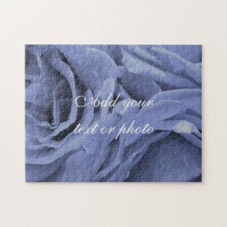 Puzzle Foto gris azul clara delicada de la flor de los