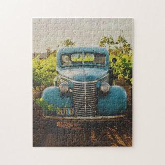 Puzzle Fotografía vieja del automóvil del vintage del