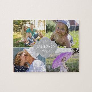 Puzzle Fotos con apellido, 4 imágenes del collage