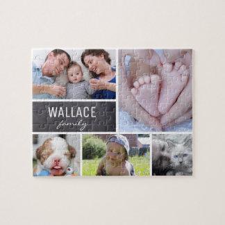 Puzzle Fotos con apellido, 5 imágenes del collage