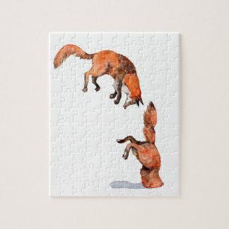 Puzzle Fox rojo de salto