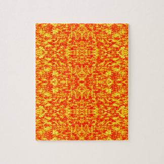 Puzzle Fractal abstracto en rojo y naranja