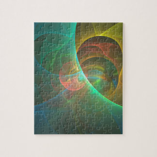 Puzzle Fractal abstracto multicolor