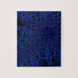 Puzzle Fractal azul eléctrico