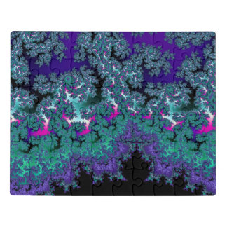 Puzzle Fractal púrpura de la locura de Mandelbrot del