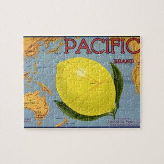 Puzzle Fruta cítrica pacífica del limón del arte de la