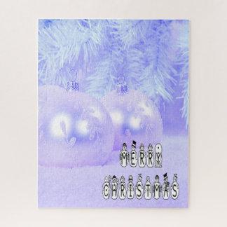 Puzzle Fuente de la gente de la nieve de las Felices