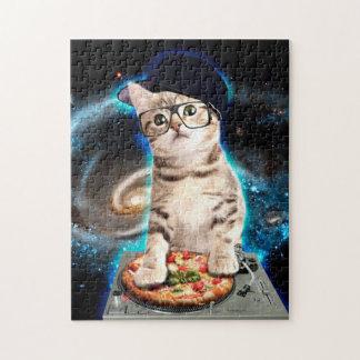 Puzzle gato de DJ - gato del espacio - pizza del gato -