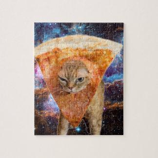 Puzzle Gato de la pizza en rebanada de la pizza del
