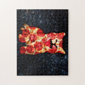 Puzzle gato de la pizza - gatito - minino