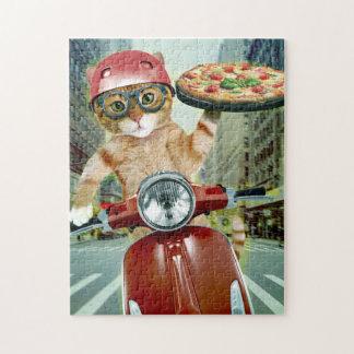 Puzzle gato de la pizza - gato - entrega de la pizza