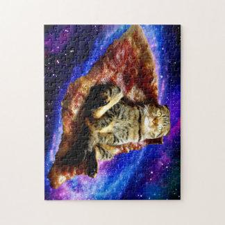 Puzzle gato de la pizza - gato loco - gatos en espacio