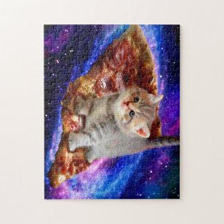 Puzzle gato de la pizza - gatos lindos - gatito - gatitos