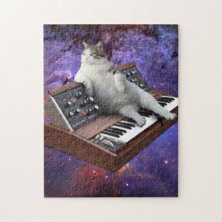 Puzzle gato del teclado - memes del gato - gato loco