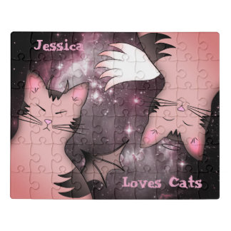 Puzzle Gatos rosados lindos