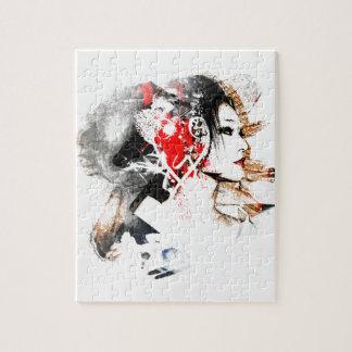 Puzzle Geisha japonés