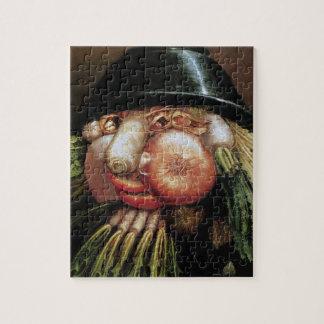 Puzzle Giuseppe Arcimboldo; El tendero verde, verduras