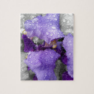 Puzzle gotas de agua en el iris