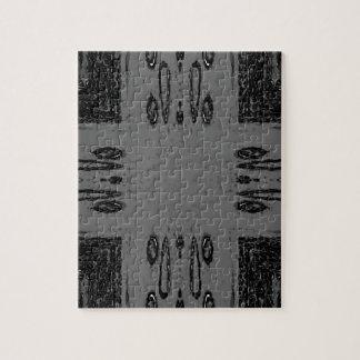 Puzzle Gótico negro gris de centro adaptable