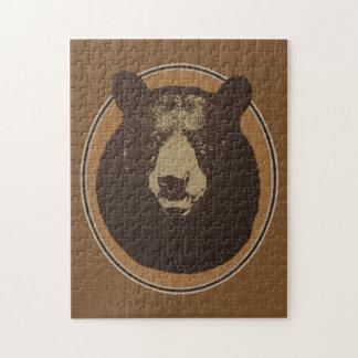 Puzzle Gráfico montado de la cabeza del oso del Taxidermy