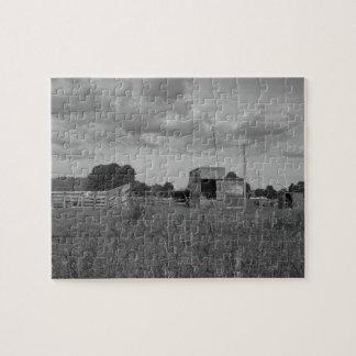 Puzzle granja de ordeño vieja