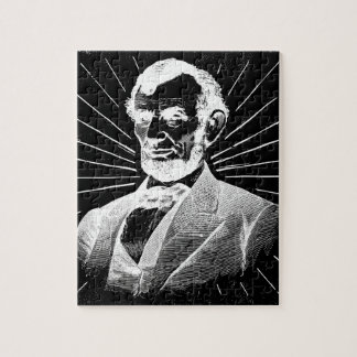 Puzzle grunge Abraham Lincoln