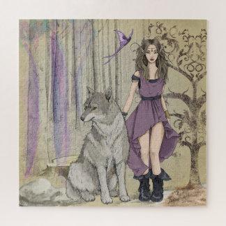 Puzzle Hada y lobo