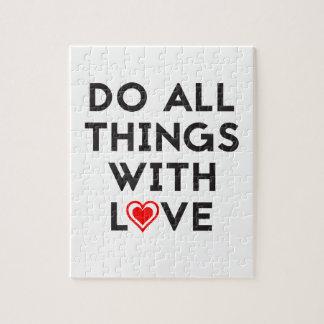 Puzzle Haga todas las cosas con amor