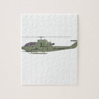 Puzzle Helicóptero de Apache en perfil de la vista