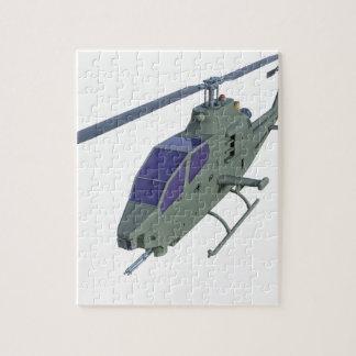 Puzzle Helicóptero de Apache en vista delantera